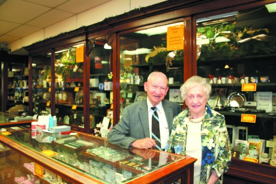 DEL AND DOCIA HANCOCK have devoted more than six decades of their lives to Hancock Jewelry in downtown Dwight, and will be closing the business after Christmas. The store has been a jewelry store in Dwight at 112 E. Main Street contin- uously since 1902, opened by E.B. Lewis, and was sold to the Hancocks in 1954 by E.B.'s son, Harold.