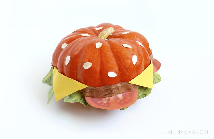 No Carve Cheeseburger Pumpkin With Free Printables