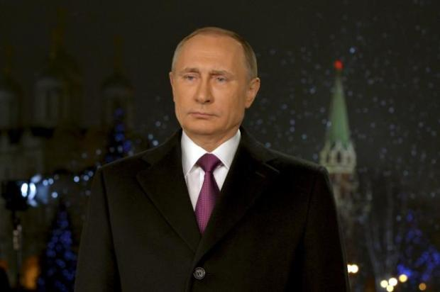 Russian President Putin delivers his annual New Year address to nation in Moscow