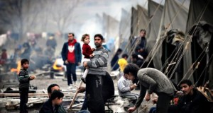 refugees-clash-in-Greece