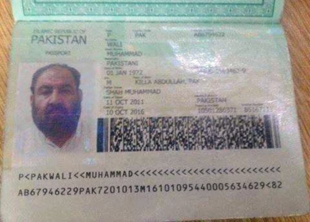 Mullah-Mansoor-Pakistani-passport
