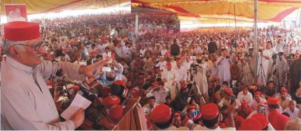 President ANP Asfandyar Wali Khan addressing Jalsa in Swabi