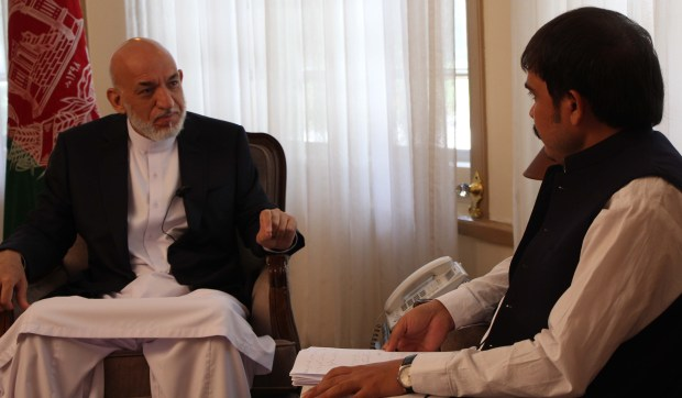 Former president of Afghanistan talks to THE PASHTUN TIMES