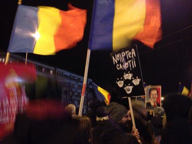 Romania protes