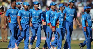 Afghanistan players walks back after their innings during their ICC World Twenty20 2016 cricket match against South Africa at the Wankhede stadium in Mumbai, India, Sunday, March 20, 2016. (AP Photo/Rafiq Maqbool)