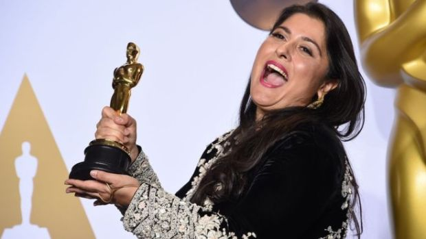Pakistan's Sharmeen Obaid Chinoy: The Oscar double winner. Photo: AFP