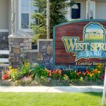 Westsprings neighbourhood sign display