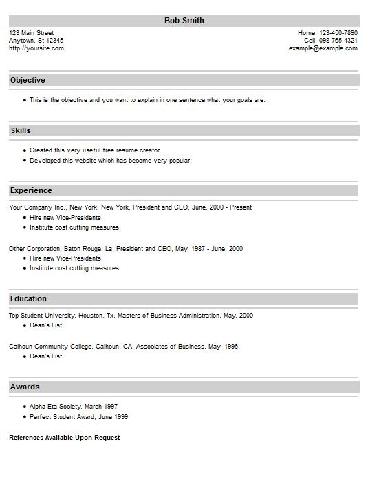 resume creator online free write your resume online free resume creator resume example 20 free resume