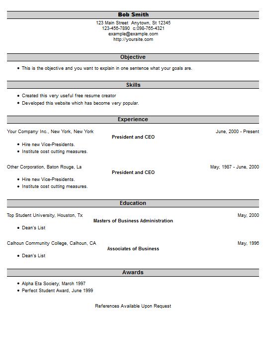 Create Quick Resume Resume Builder Free Resume Builder Livecareer Resume Example 25 Free Resume Creator