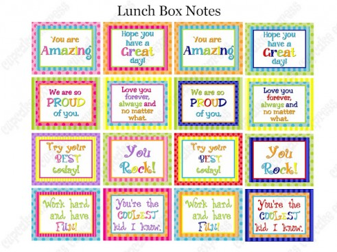 25 Free Printable Lunch Notes The Peaceful Mom
