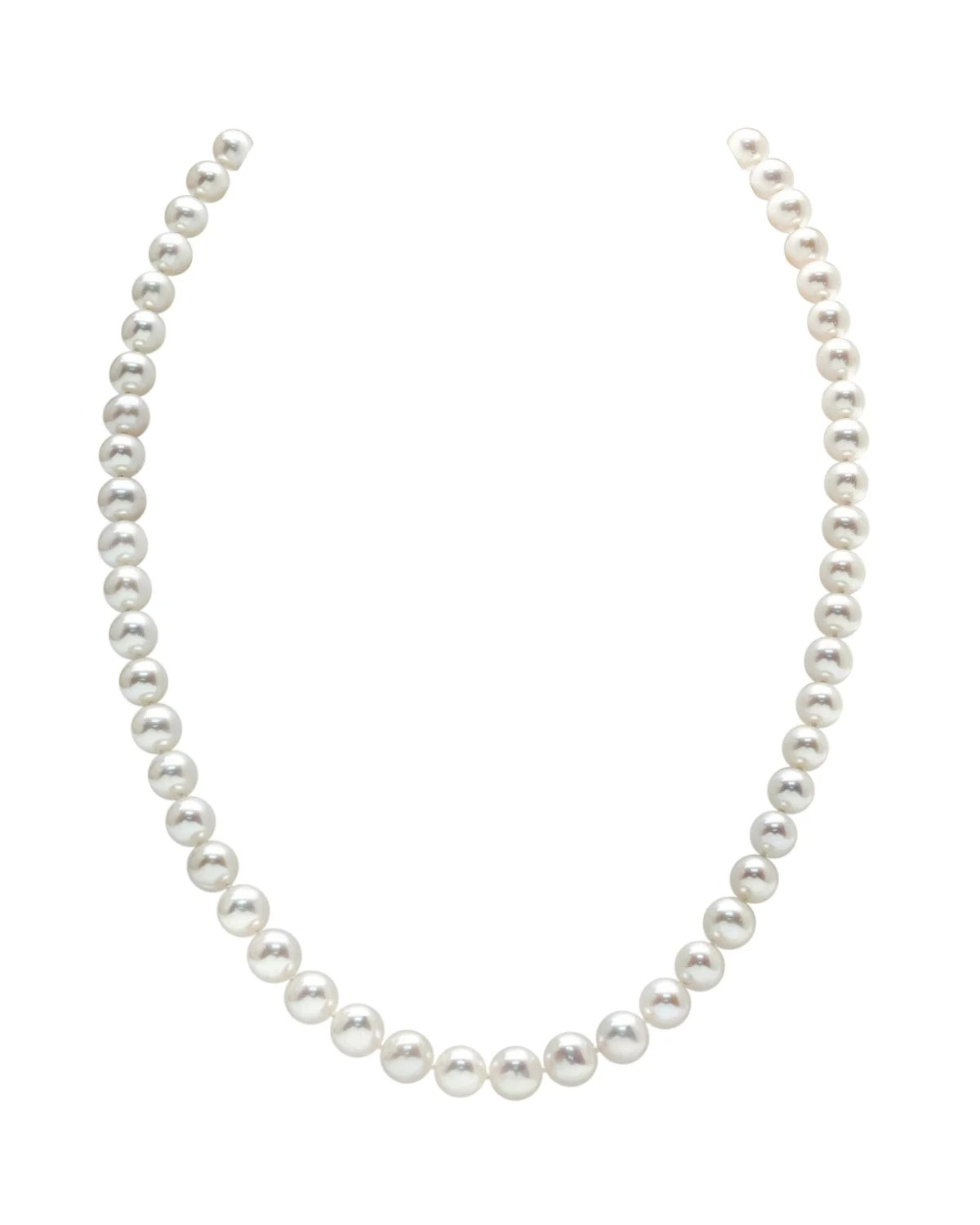 8 Mm 7 8mm White Freshwater Pearl Necklace
