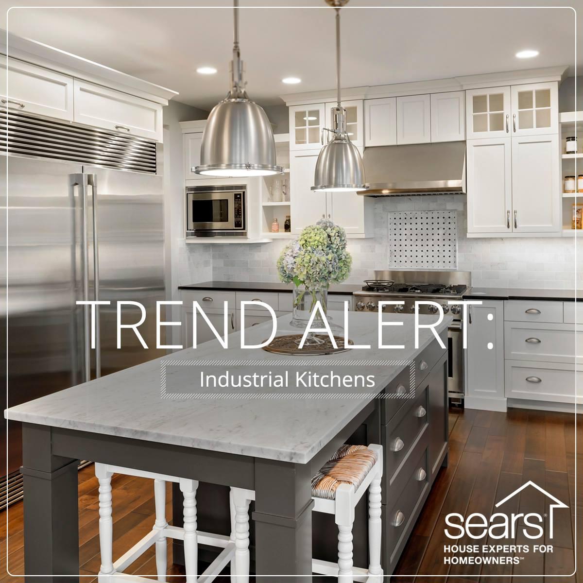 build dream kitchen budget sears kitchen remodel Trend Alert Industrial Kitchens