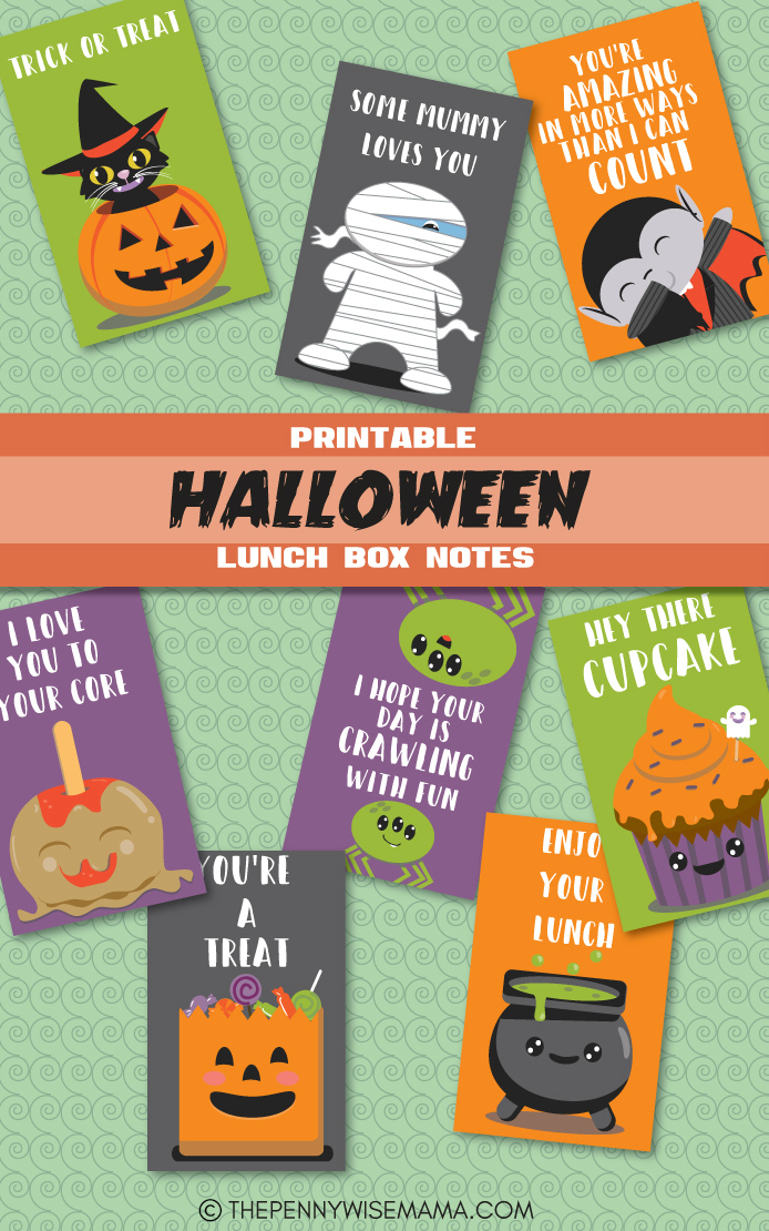 printable halloween lunch box notes PDFjpg
