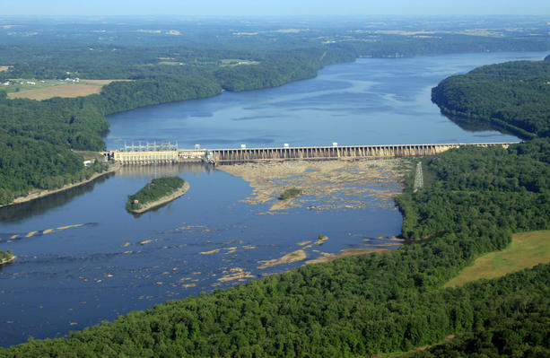 """The Conowingo Dam in Northern Maryland: Where the nude body of Phylicia Barnes was found, and possibly the location Danisha McIntosh was referring when she tweeted, """"It's trapped at the dam."""