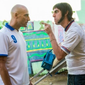 Mark Strong and Sacha Baron Cohen in Columbia Pictures' THE BROTHERS GRIMSBY.