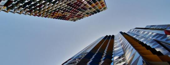 colourful skyscrapers by Mihai Florea