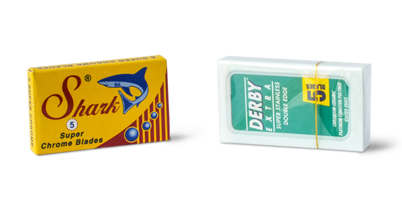 shark super chrome and derby extra razor blades