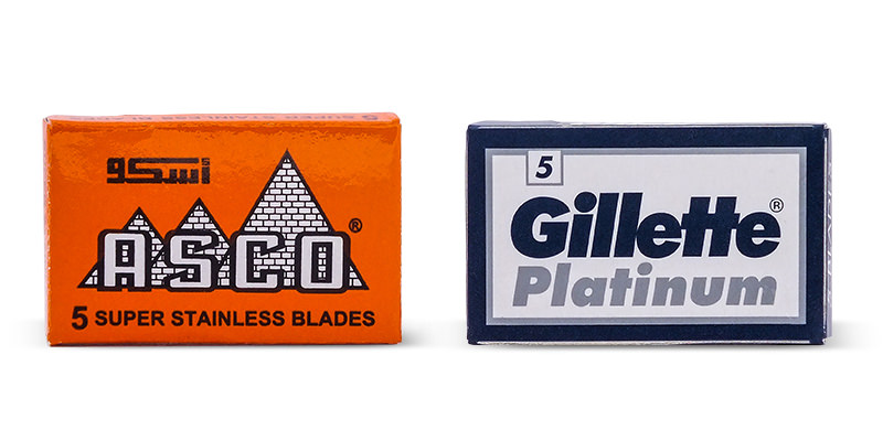 Asco and Gillette Platinum Double-edge Razor Bades