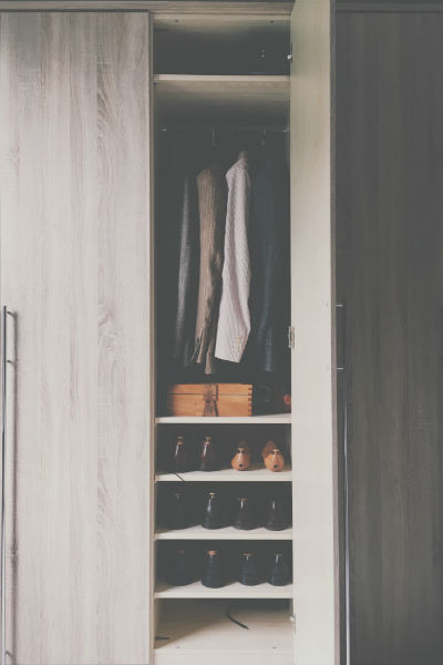 neat suits and shoes wardrobe