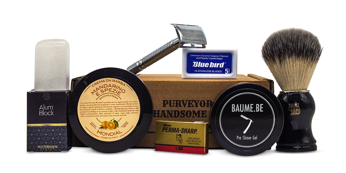 The Personal Barber shaving kit July/aug 19 box