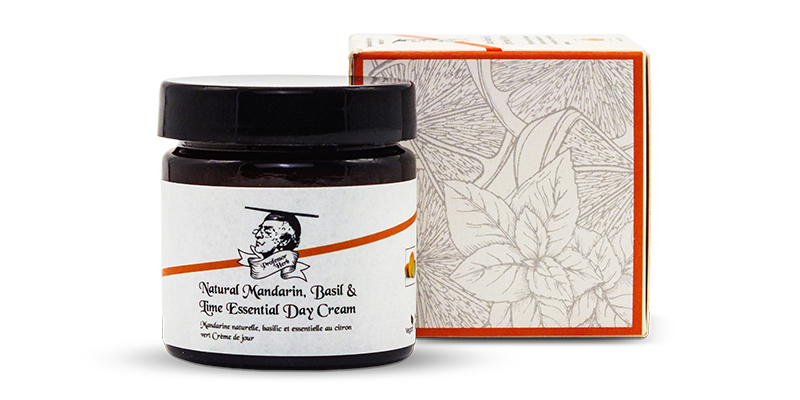 Moisturising cream from Professor Herb Basil Lime and Mandarin scent