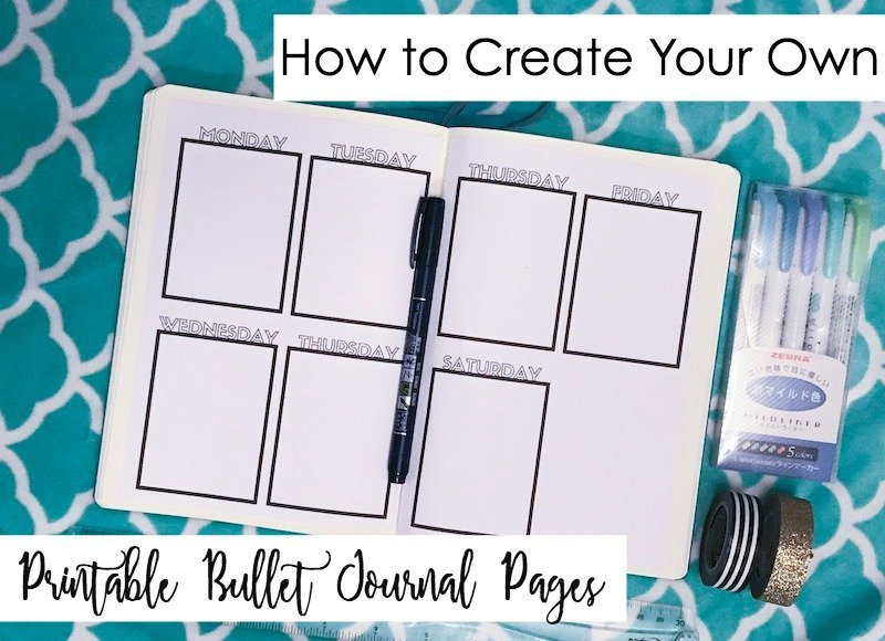 How to Make Your Own Printable Bullet Journal Pages-No Excel