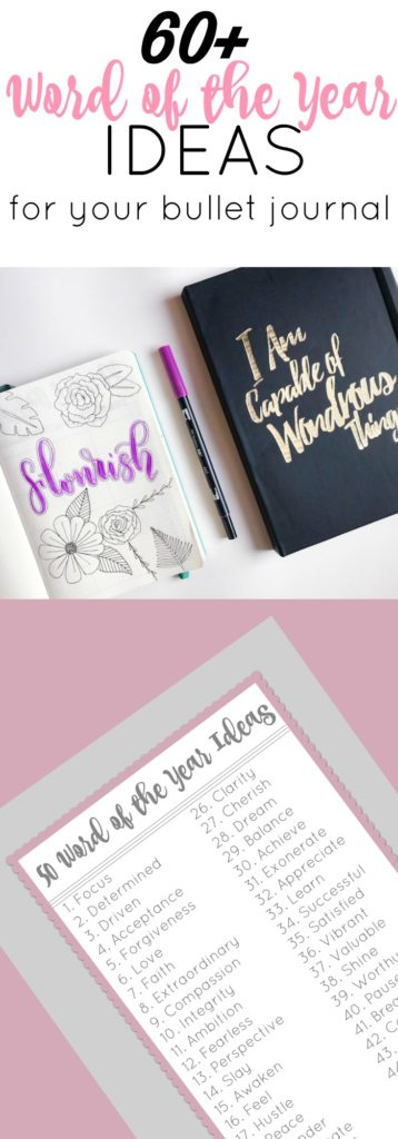 Word of the Year Ideas for Your Bullet Journal - The Petite Planner