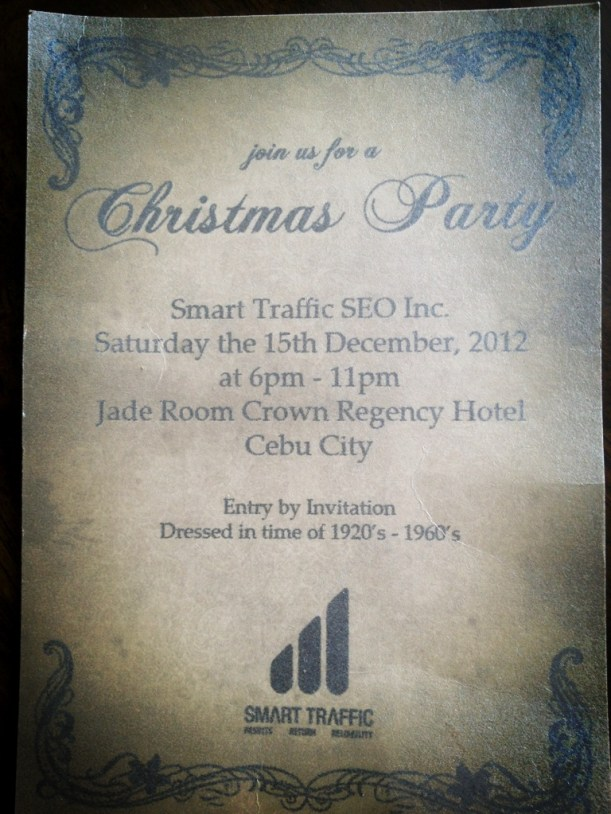 Christmas Party Invitation Cebu City Philippines