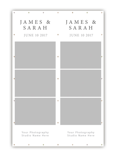 Diamond Photo Booth Template 2x6 Strip 5 - The Photopod Company