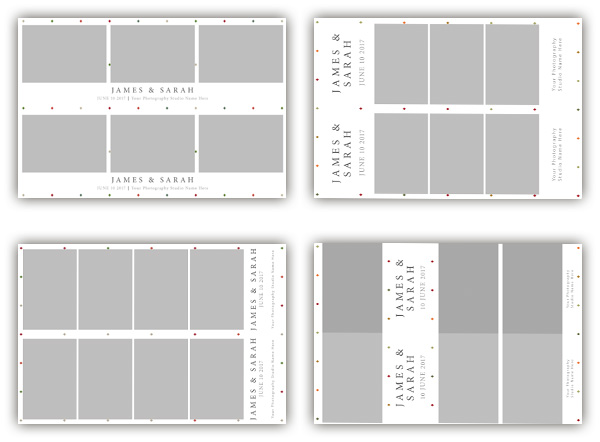 Five photo booth template designs collection - The Photopod Company - po booth template