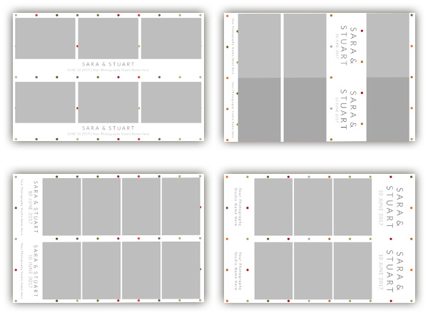 Dots photo booth template collection - The Photopod Company - po booth template