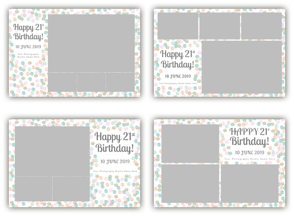 Happy Birthday photo booth template collection - The Photopod Company - po booth template