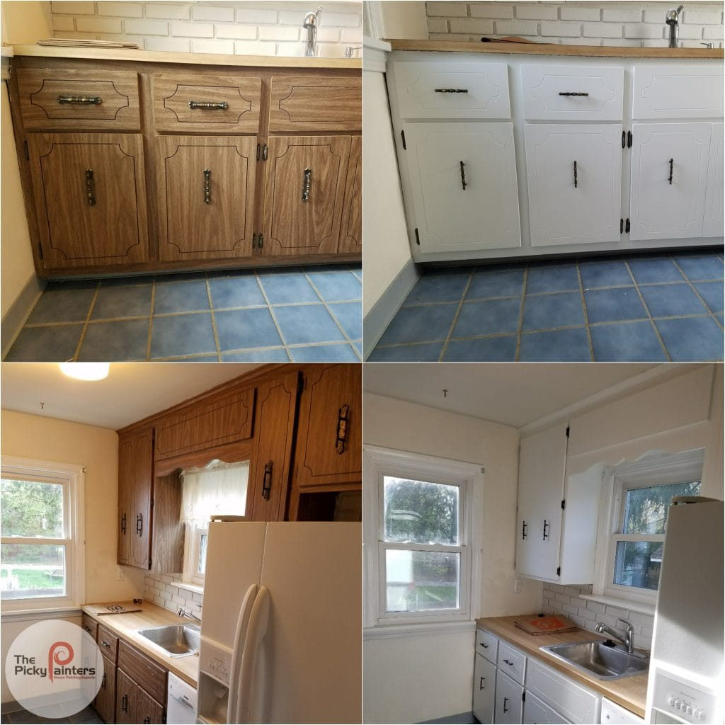 Can You Paint Laminate Kitchen Cabinets The Picky Painters Berea Oh