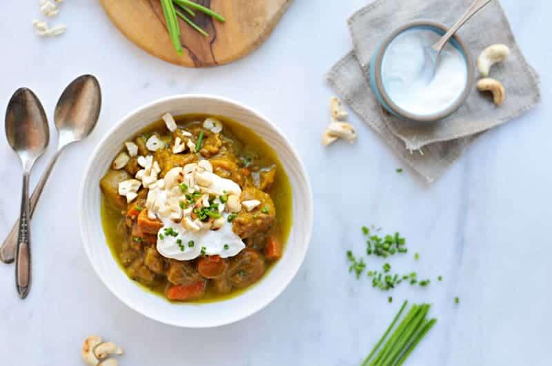 Slow-Cooker Pumpkin Curry Beef Stew recipe (via thepigandquill.com)