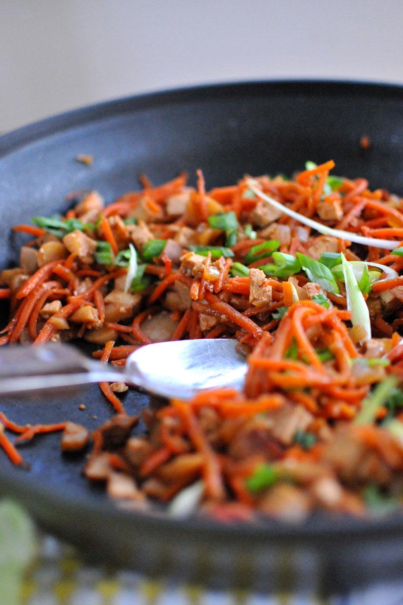 Asian Tofu Lettuce Wraps (vegan & gluten-free) // the pig & quill
