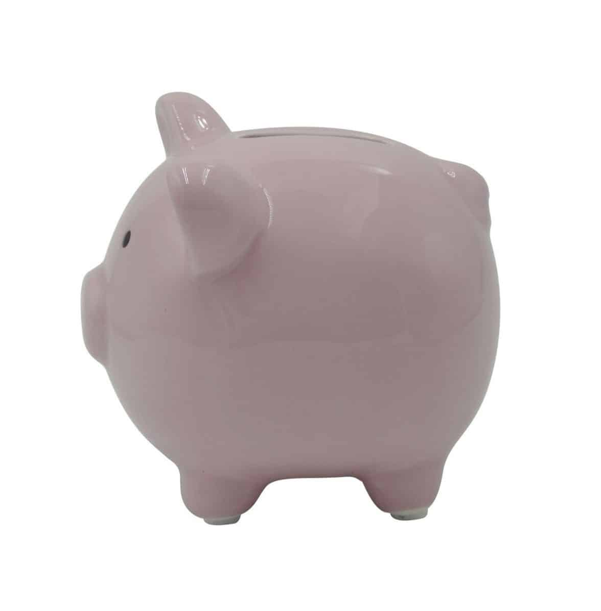 Money Bank For Kids Small Cute Ceramic Piggy Coin Bank For Kids Pink The