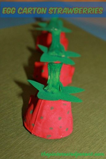 Egg Carton Strawberries