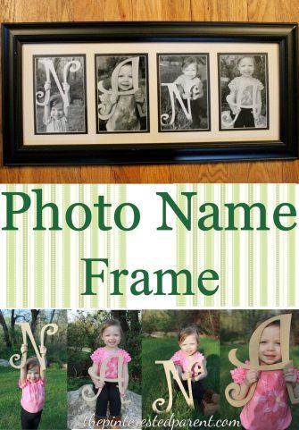 Photo Name Frame