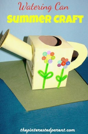Watering Can Summer Craft - Made with recycled products