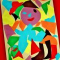 Abstract Kid's Art With Shapes
