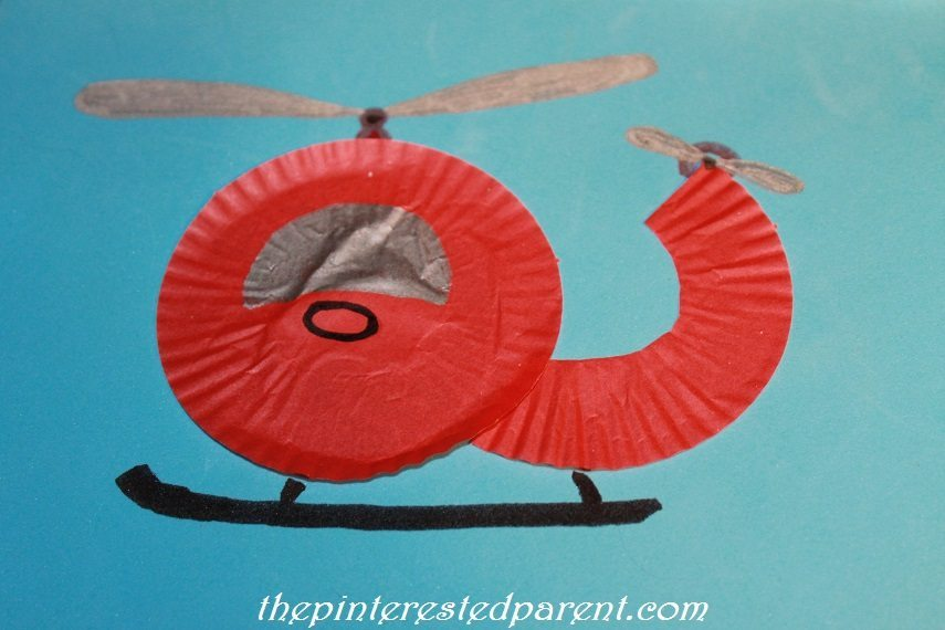 Cupcake Liner Helicopter The Pinterested Parent