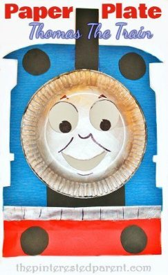 Paper Plate Thomas The Train Craft