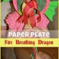 Paper Plate Fire Breathing Dragon Mask
