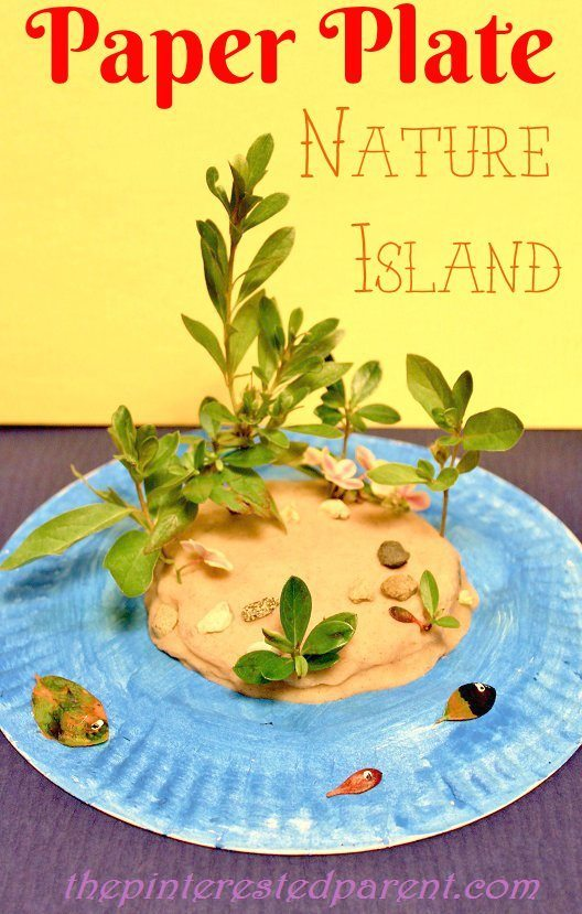 Paper Plate Play Dough Nature Island