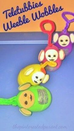 Teletubbies Weeble Wobbles - Made out of plastic Easter eggs. These are quick & easy to make & a lot of fun