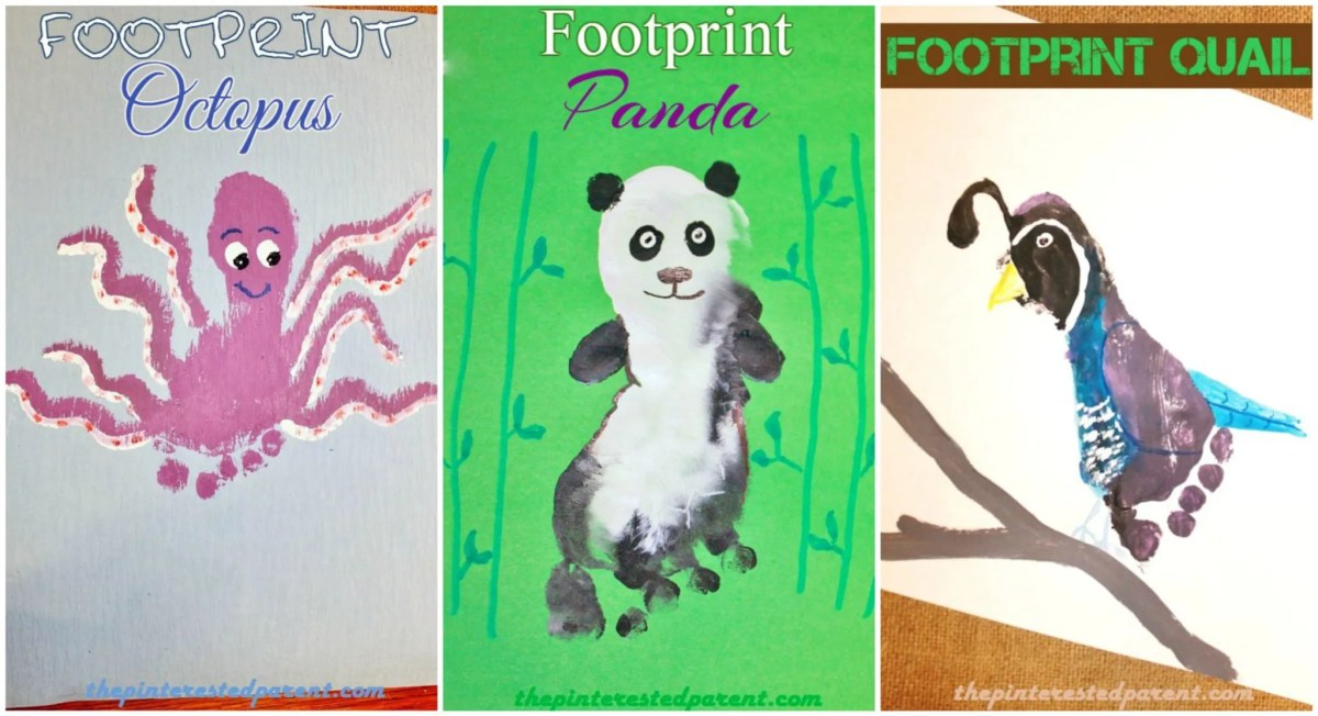 Footprint Animal Crafts From A - Z Featuring O, P & Q