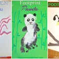 Footprint crafts from A - Z featuring o,p & q