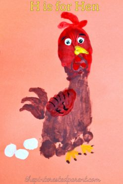 H is for Hen footprint craft