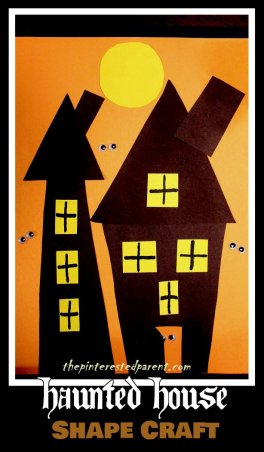 Haunted House Shape Craft - Halloween Crafts for kids