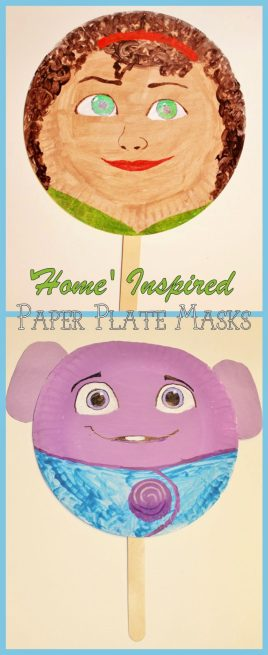 Home Inspired Paper Plate Masks